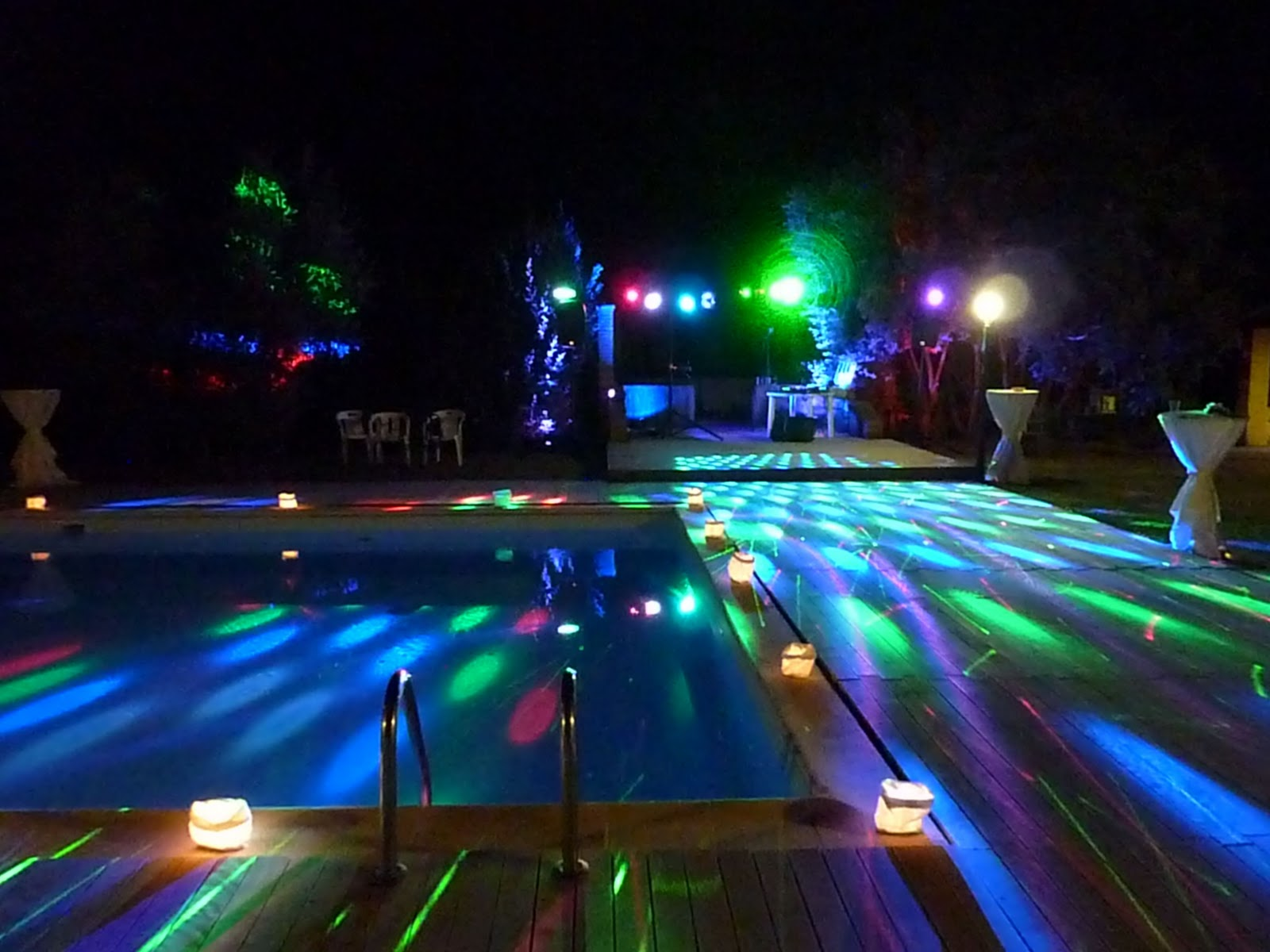 Pool Party Lighting Ideas pool party lights ideas outline with stakes and light balls Wedding Dj In Tuscany Pink Panther Dj Service Mobile Disco At A Wedding Disco Party In Lajatico Pisa Dj Service In Chiantifirenzeluccasiena
